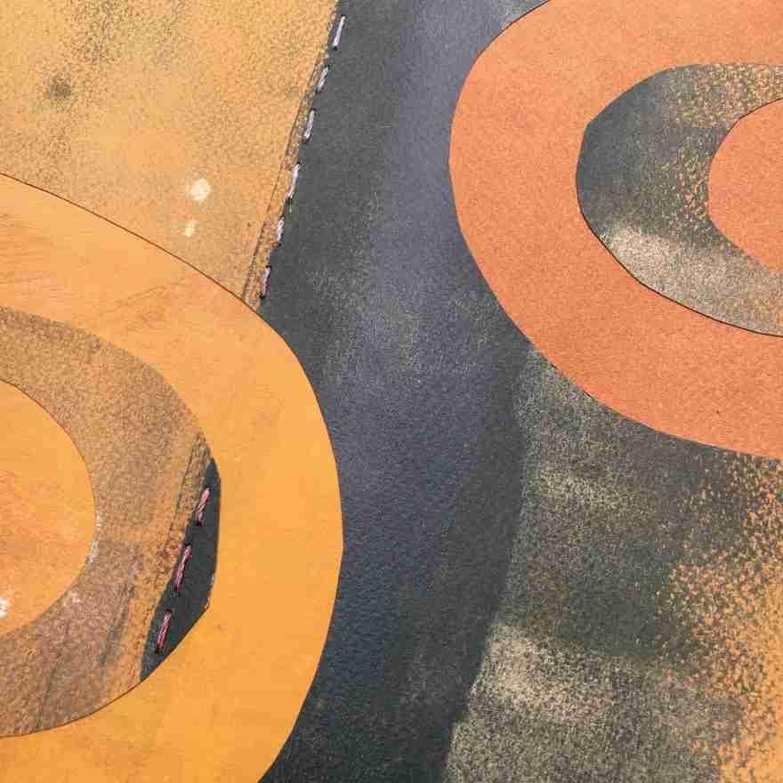 Abstract forms on paper