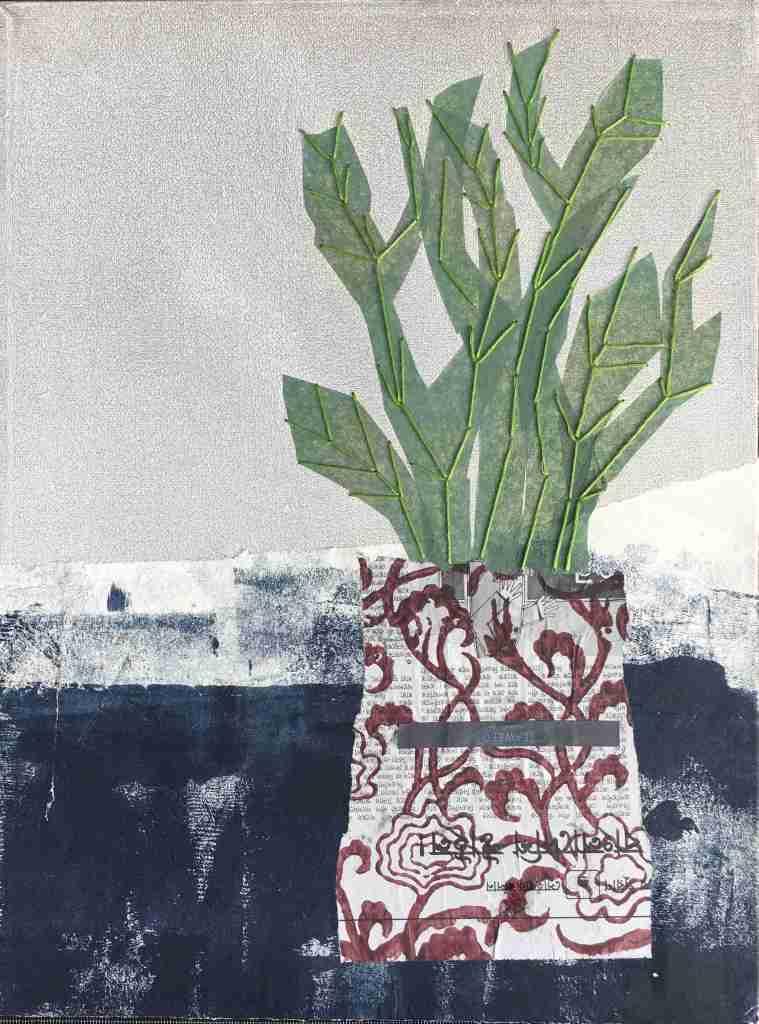 Botanicals still life on canvas
