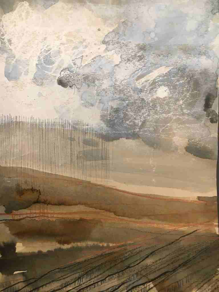 Remembered landscapes 2020 mixed media