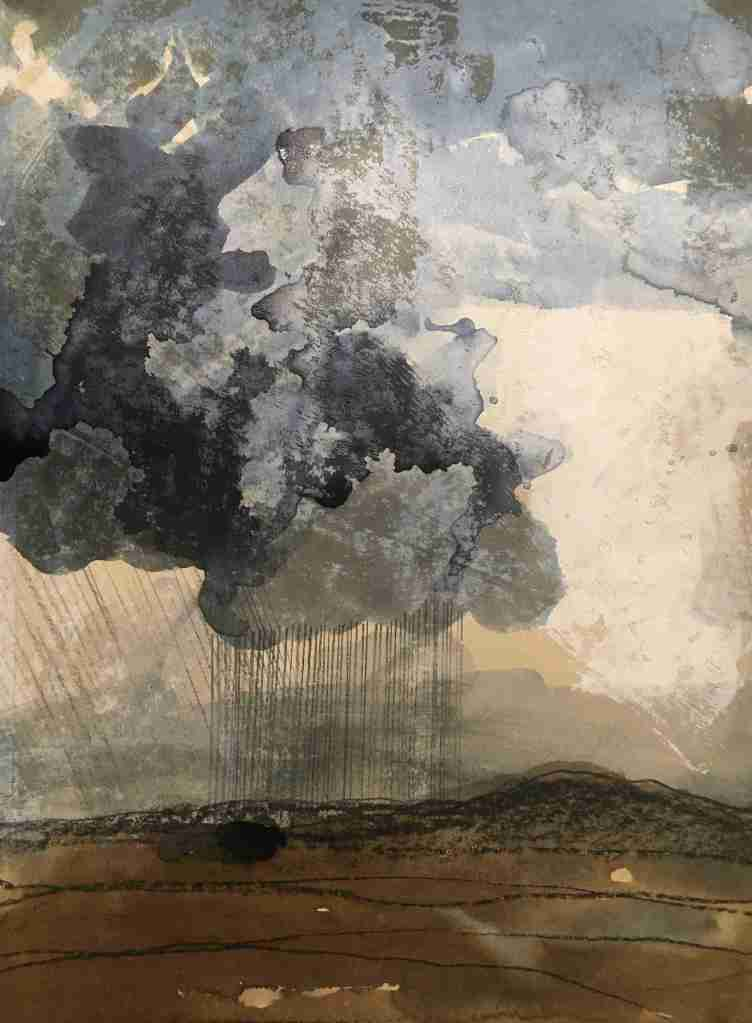 Remembered landscapes pencil, ink and monoprint