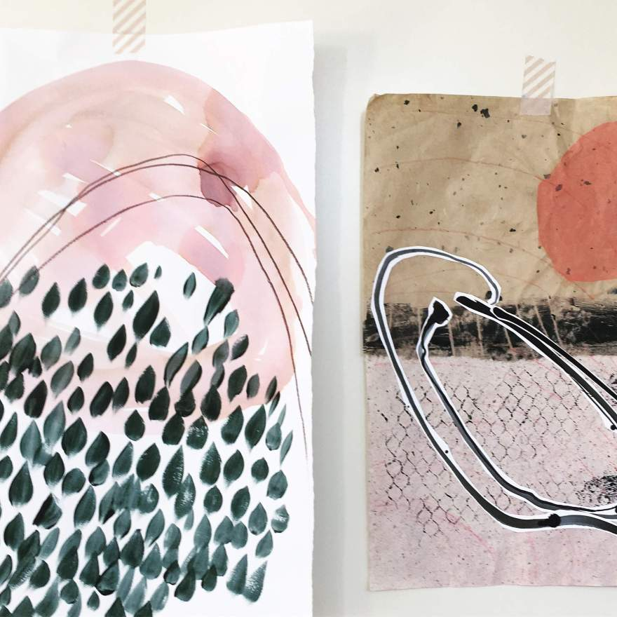 Two pieces from beachcombing series